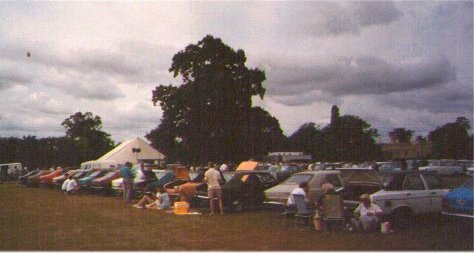Picture of Hillman Owners Club rally, approx 1991.
