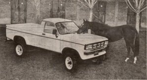 Picture of Avenger based Eniak Durango pickup truck.